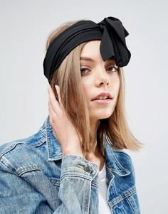 Широкий шифоновый головной платок ASOS - Черный