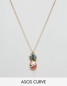 Ожерелье с подвеской-ананасом ASOS CURVE - Мульти