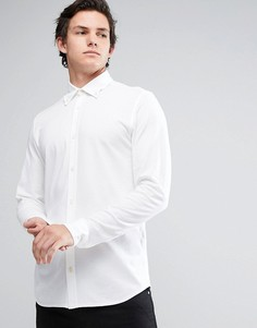 Узкая рубашка-премиум из пике Jack & Jones - Белый
