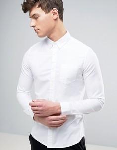 Эластичная оксфордская рубашка скинни Burton Menswear - Белый