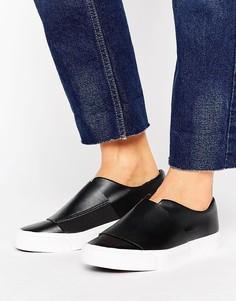 Кроссовки-слипоны с широкими ремешками New Look - Черный