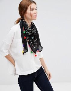 Легкий шарф Liquorish - Черный