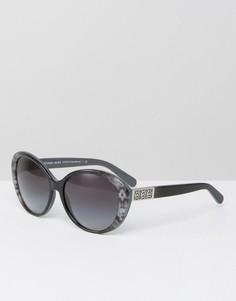 Круглые солнцезащитные очки кошачий глаз Michael Kors - Серый