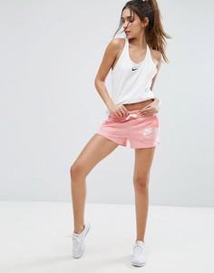 Коралловые шорты в винтажном стиле Nike - Розовый