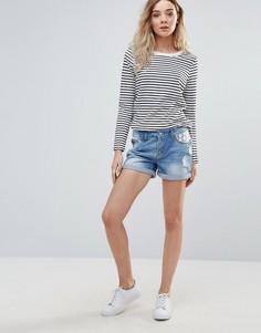 Джинсовые шорты с вышивкой Vero Moda Paula - Синий