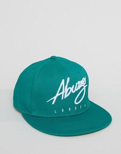 Бейсболка с логотипом Abuze London - Зеленый