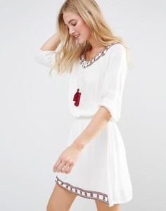 Фестивальное платье First & I - Белый