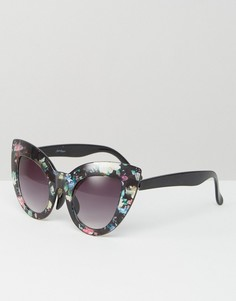 Солнцезащитные очки кошачий глаз с цветочным принтом Jeepers Peepers - Мульти