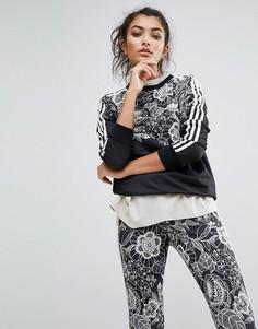 Свитшот с цветочным принтом adidas Farm - Мульти