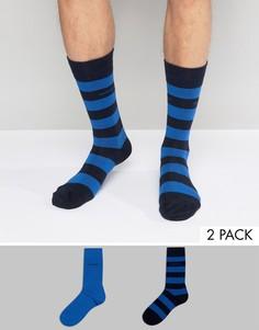 2 пары носков в полоску BOSS Black By Hugo Boss - Синий
