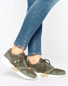 Кроссовки цвета хаки Le Coq Sportif Omega - Зеленый