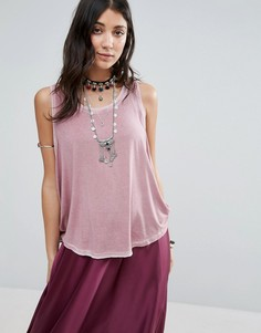 Майка Free People Little Rock - Розовый
