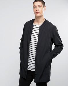 Удлиненная куртка‑пилот Selected Homme - Черный