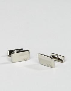 Серебристые запонки HUGO by Hugo Boss E-Liberty - Серебряный