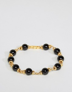 Золотистый браслет с бусинами Mister Maxime - Золотой
