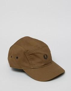 Зеленая хлопковая кепка Fred Perry - Зеленый