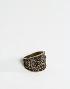 Золотистое кольцо с гравировкой ASOS - Золотой