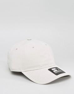 Замшевая бейсболка с черным логотипом Starter - Кремовый