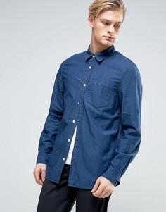Синяя джинсовая рубашка Weekday Class - Синий
