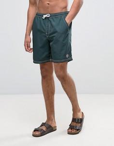 Зеленые шорты для плавания с маленьким логотипом Timberland - Зеленый