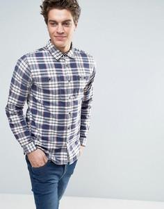 Джинсовая рубашка в клетку Tommy Hilfiger - Темно-синий
