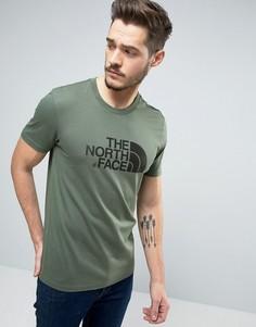 Зеленая футболка с большим логотипом The North Face - Зеленый