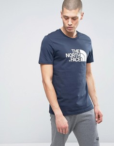 Темно-синяя футболка с большим логотипом The North Face - Темно-синий