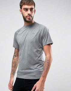 Светло-серая меланжевая футболка с рукавами реглан и маленьким логотипом The North Face Tanken - Серый