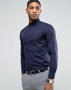 Строгая облегающая рубашка Selected - Темно-синий