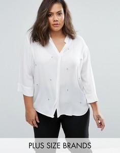 Декорированная блузка Elvi Plus - Белый