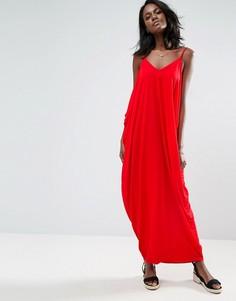 Платье макси с драпировкой ASOS - Красный