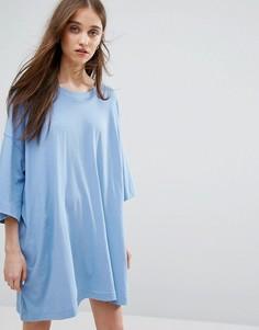 Платье-футболка Weekday Huge - Синий