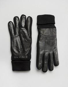 Кожаные перчатки Minimum - Черный