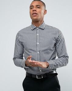 Узкая рубашка в клеточку Jack & Jones Premium - Темно-синий