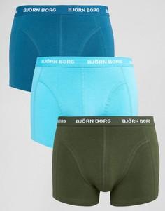 3 пары боксеров-брифов Bjorn Borg - Темно-синий