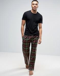 Клетчатые штаны цвета хаки для дома Bjorn Borg - Зеленый