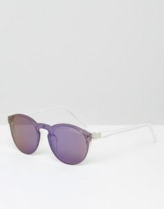 Круглые солнцезащитные очки с зеркальными стеклами Black Phoenix - Синий