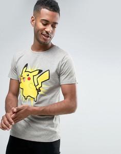 Футболка с принтом Pikachu Jack & Jones Pokemon - Серый