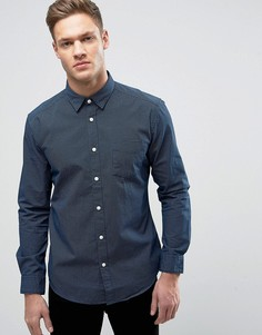 Рубашка слим в горошек Esprit - Темно-синий