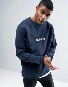 Темно-синий свитшот с круглым вырезом adidas Originals Equipment BK7666 - Темно-синий