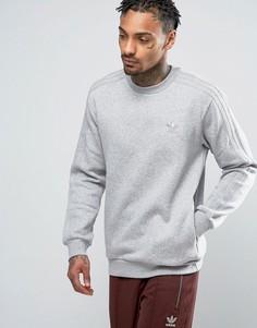 Серый свитшот с круглым вырезом adidas Originals TRF Series BK5895 - Серый