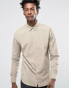 Рубашка классического кроя с воротником на пуговицах Selected Homme - Stone
