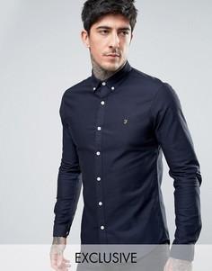Темно-синяя оксфордская рубашка скинни эксклюзивно для Farah - Темно-синий
