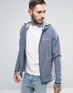 Мягкая меланжевая куртка с капюшоном Columbia Canyon - Темно-синий