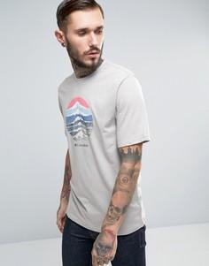 Серая меланжевая футболка Columbia Mountain Sunset - Серый