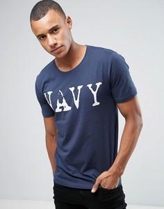 Темно-синяя футболка Only & Sons 51 - Темно-синий
