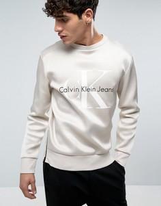 Свитшот с логотипом Calvin Klein Jeans Horacle Lux - Бежевый