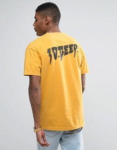 Футболка с принтом на спине 10 Deep - Желтый