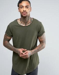 Длинная футболка с круглым вырезом G-Star Vontoni - Зеленый