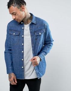 Узкая джинсовая рубашка с эффектом поношенности G-Star 3301 - Синий